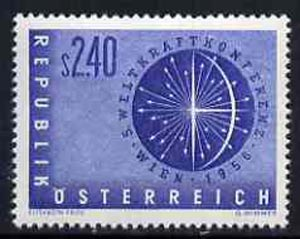 Austria 1956 World Power Conference 2s 40 blue unmounted mint, SG1283