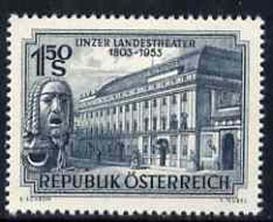 Austria 1953 Linz National Theatre 150th Anniversary unmounted mint, SG1245