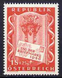 Austria 1956 Stamp Day 1s + 25g unmounted mint SG 1286