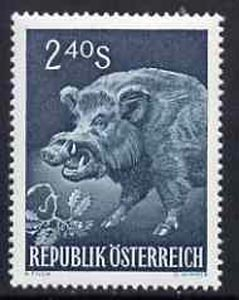 Austria 1959 Wild Boar 2s 40 green unmounted mint, from Int Hunting Congress set,  SG1340