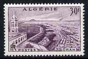 Algeria 1956 Town View 30f from set of 2 unmounted mint, SG 369*