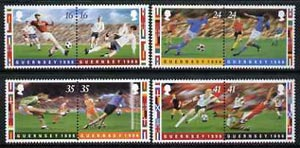 Guernsey 1996 European Football Championships set of 8 (4 se-tenant pairs) unmounted mint SG696-703