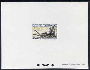 Senegal 1964 Industries 25f Working Phosphate epreuve de luxe sheet in issued colours, as SG279