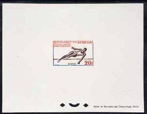 Senegal 1963 Dakar Games 20f High Jump epreuve de luxe sheet in issued colours, as SG255