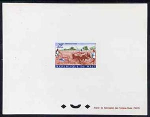 Mali 1961 Land Tillage with Oxen 20f epreuve de luxe sheet in issued colours, as SG38