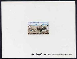 Mali 1961 Land Tillage with Oxen 3f epreuve de luxe sheet in issued colours, as SG33