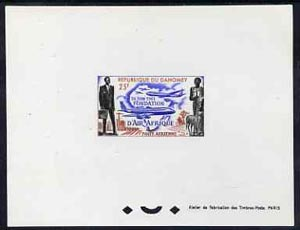 Dahomey 1962 Foundation of Air Afrique 25f epreuve de luxe sheet in issued colours, as SG163
