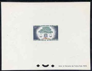 Gabon 1963 Human Rights 25f epreuve de luxe sheet in issued colours, as SG204