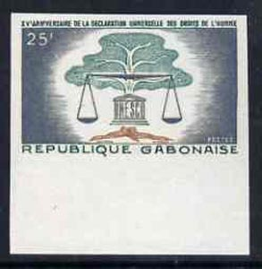 Gabon 1963 Human Rights 25f marginal imperf single unmounted mint, as SG204