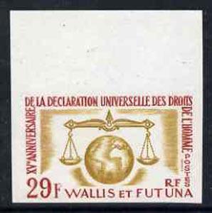 Wallis & Futuna 1963 Human Rights 29f marginal imperf single unmounted mint, as SG183