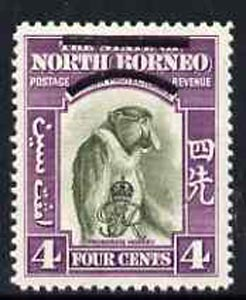 North Borneo 1947 KG6 Crown Colony 4c Monkey unmounted mint SG338