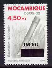 Mozambique 1994 Surcharged 100m on 4m50 Sugar Cane with surcharge inverted unmounted mint