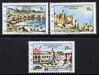 Cyprus - Turkish Cypriot Posts 1976 Scenic Views perf set of 3 unmounted mint SG 36-38