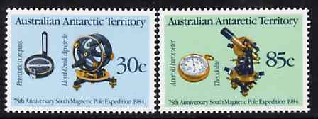 Australian Antarctic Territory 1984 Anniversary of Magnetic Pole Expedition set of 2 unmounted mint SG 61-62