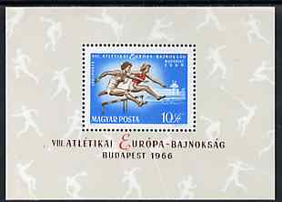 Hungary 1966 European Athletics perf m/sheet unmounted mint SG MS2220