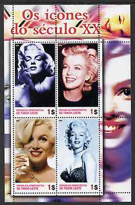 Timor 2004 Icons of the 20th Century - Marilyn Monroe #02 perf sheetlet containing 4 values unmounted mint