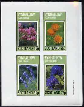 Eynhallow 1982 Flowers #30 imperf set of 4 values unmounted mint