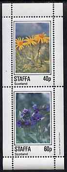 Staffa 1982 Flowers #53 perf set of 2 values unmounted mint