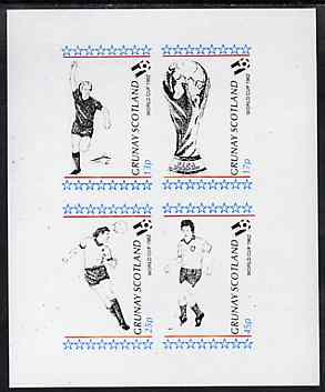 Grunay 1982 Football World Cup imperf sheetlet containing set of 4 values unmounted mint