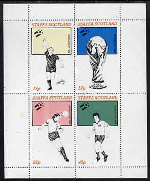 Staffa 1982 Football World Cup perf sheetlet containing set of 4 values unmounted mint