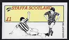Staffa 1982 Football World Cup imperf souvenir sheet (�1 value) unmounted mint