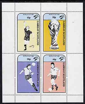 Gairsay 1982 Football World Cup perf sheetlet containing set of 4 values unmounted mint