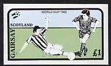 Gairsay 1982 Football World Cup imperf souvenir sheet (�1 value) unmounted mint