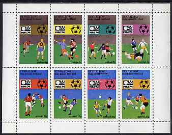 Eynhallow 1974 Football World Cup perf sheetlet containing set of 8 values unmounted mint