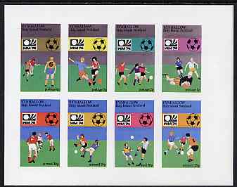 Eynhallow 1974 Football World Cup imperf sheetlet containing set of 8 values unmounted mint
