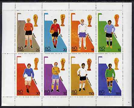 Iso - Sweden 1974? Football World Cup perf sheetlet containing set of 8 values unmounted mint