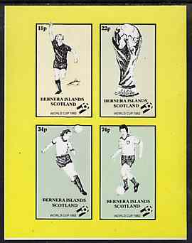 Bernera 1982 Football World Cup imperf sheetlet containing set of 4 values unmounted mint