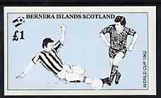 Bernera 1982 Football World Cup imperf souvenir sheet (�1 value) unmounted mint