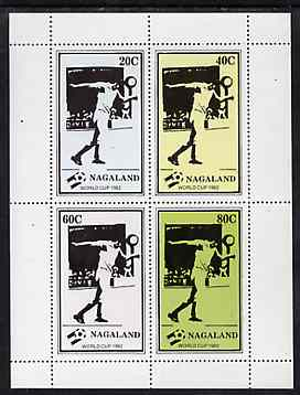 Nagaland 1982 Football World Cup perf sheetlet containing set of 4 values unmounted mint