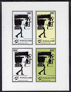 Nagaland 1982 Football World Cup imperf sheetlet containing set of 4 values unmounted mint