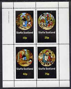 Staffa 1982 Fairy Tales (Hansel & Gretel) perf sheetlet containing set of 4 values unmounted mint