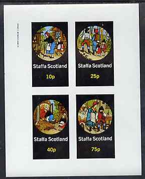 Staffa 1982 Fairy Tales (Hansel & Gretel) imperf sheetlet containing set of 4 values unmounted mint