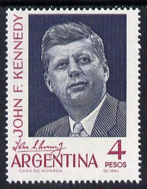 Argentine Republic 1964 Kennedy Memorial unmounted mint SG 1109*