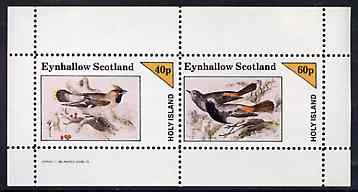 Eynhallow 1982 Birds #42 perf sheetlet containing set of 2 values unmounted mint