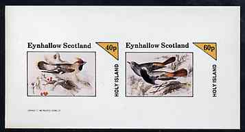 Eynhallow 1982 Birds #42 imperf sheetlet containing set of 2 values unmounted mint