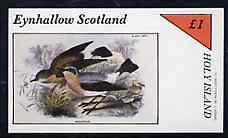 Eynhallow 1982 Birds #42 imperf souvenir sheet (�1 value) unmounted mint