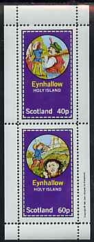 Eynhallow 1981 Fairy Tales (Jack the Giant Killer) perf sheetlet containing set of 2 values unmounted mint