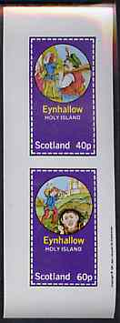 Eynhallow 1981 Fairy Tales (Jack the Giant Killer) imperf sheetlet containing set of 2 values unmounted mint