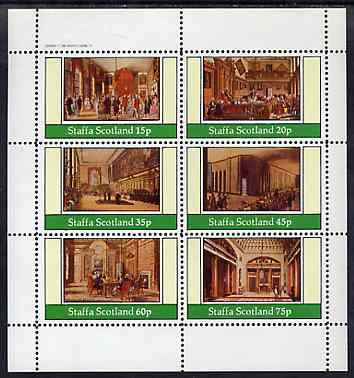 Staffa 1982 Regency England #1 perf sheetlet containing set of 6 values unmounted mint