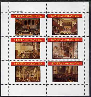 Staffa 1982 Regency England #2 perf sheetlet containing set of 6 values unmounted mint