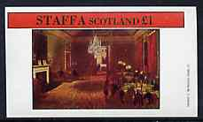Staffa 1982 Regency England #2 (The Club) imperf souvenir sheet (�1 value) unmounted mint