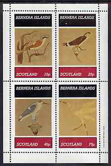 Bernera 1981 Wall Paintings of Birds perf sheetlet containing set of 4 values unmounted mint