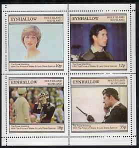 Eynhallow 1981 Royal Wedding perf sheetlet containing set of 4 values unmounted mint