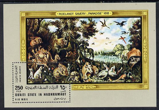 Aden - Quaiti 1967 Paradise by Savery perf miniature sheet unmounted mint Mi 22A