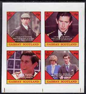 Gairsay 1981 Royal Wedding imperf sheetlet containing set of 4 values unmounted mint