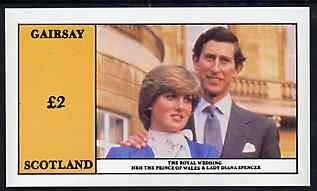 Gairsay 1981 Royal Wedding imperf deluxe sheet (�2 value) unmounted mint
